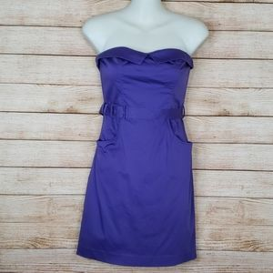Divided Purple Fitted Party Dress